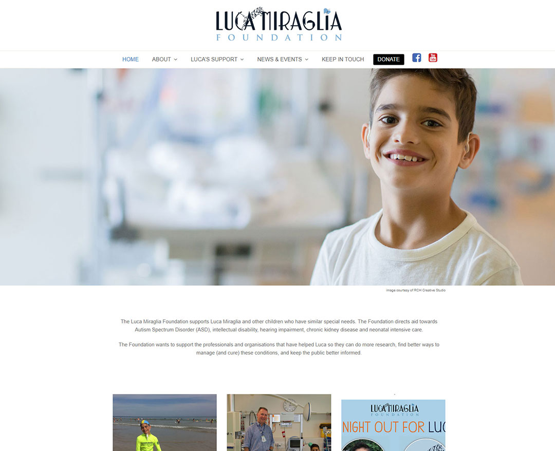 Luca Miraglia Website Design